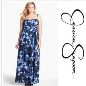 Jessica Simpson watercolor gown♡♡